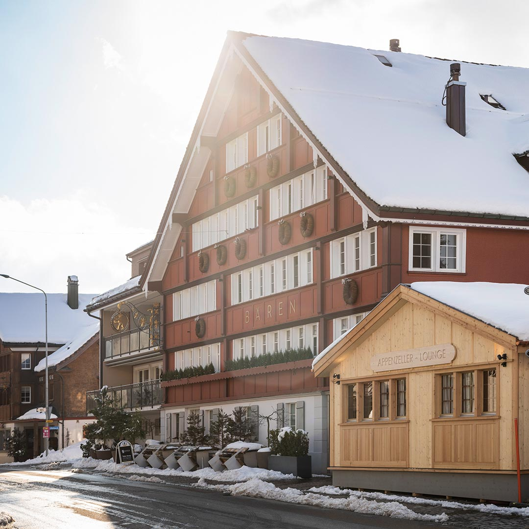 The Appenzeller Lounge by day in wintertime only