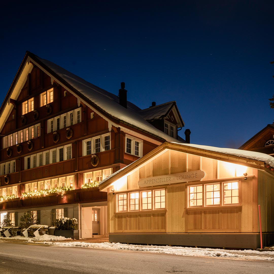The Appenzeller Lounge by night